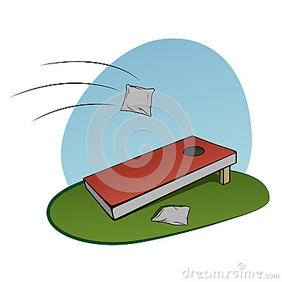Corn Hole Game Stock Vector   Image  49803122