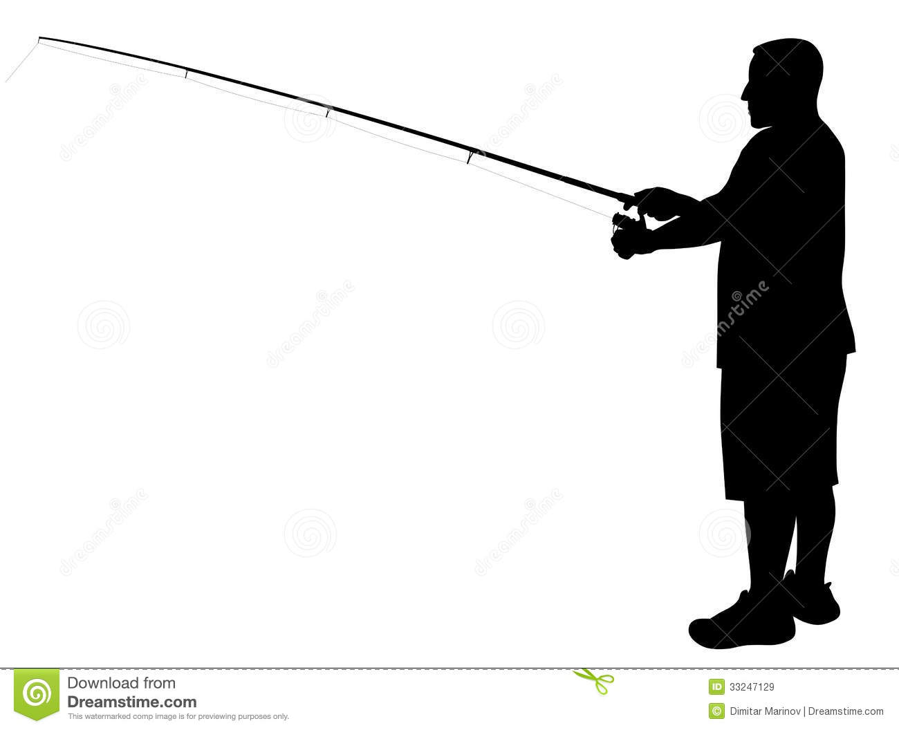 Fisherman Silhouette Clipart - Clipart Suggest