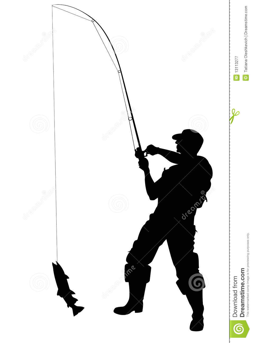 fishing rod clip art fisherman with a fish #ulttbs - clipart kid, Fishing Rod