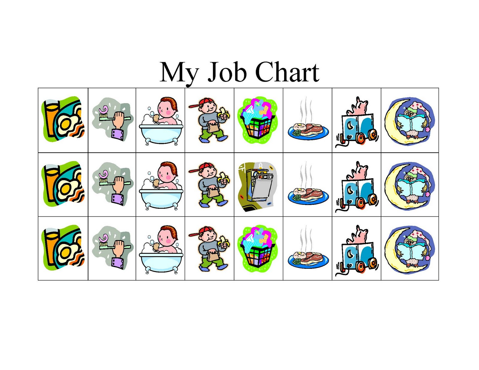 Free Family Fun     Make A Craft Monday   Routine Job Chart