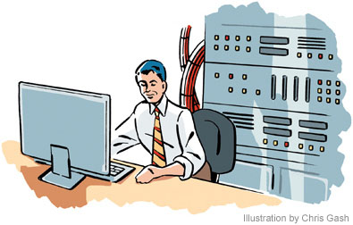 Information Technology Manager Clip Art