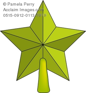 Of A Gold Star Christmas Tree Topper   Acclaim Stock Photography
