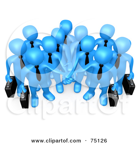 Royalty Free  Rf  Clipart Illustration Of A Group Of Blue Business