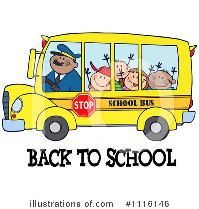Royalty Free  Rf  School Bus Clipart Illustration By Hit Toon   Stock