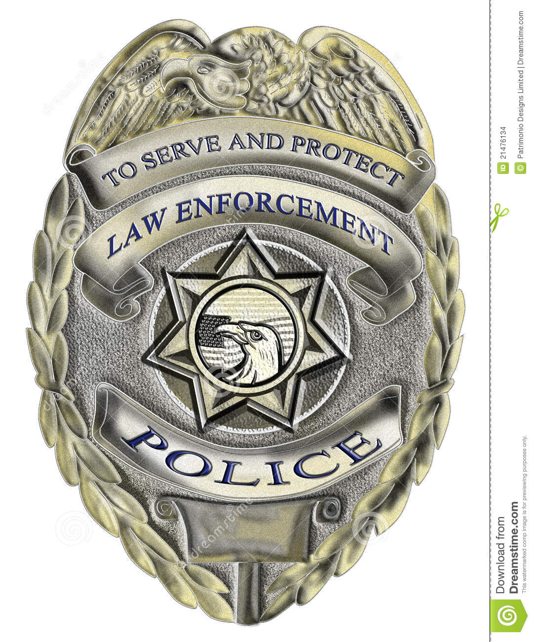 Sheriff Law Enforcement Police Badge Stock Images   Image  21476134