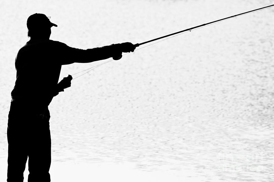 Fishing silhouette clip art