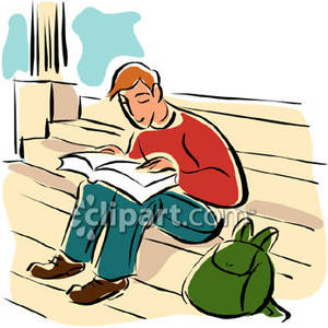 Student Reading Book Clipart - Clipart Kid
