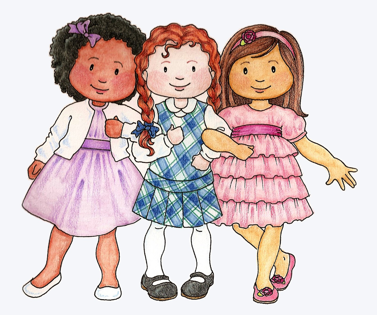 Susan Fitch Design  Primary Kids Clip Art