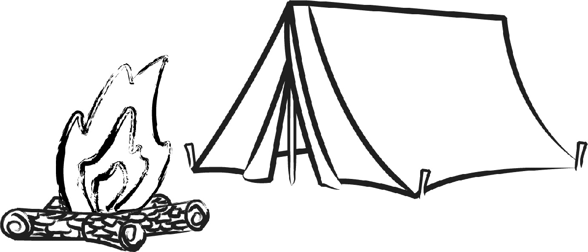 Tent Clipart Black And White Camping Tent Clipart Black