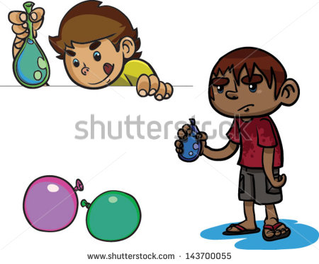 Water Gun Fight Clipart Water Balloon Fight Stock