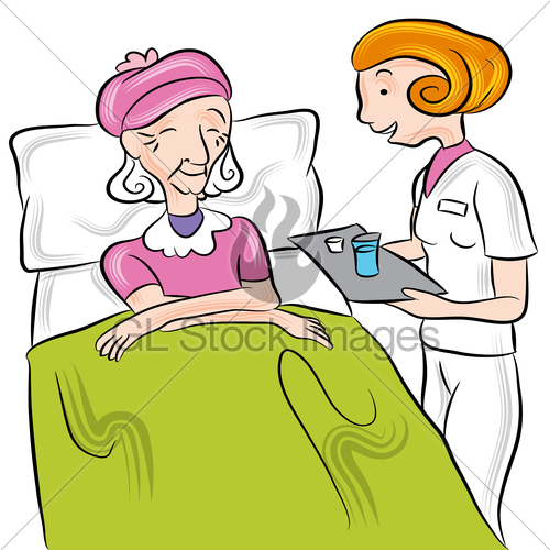 An Image Of A Nurse Giving Medication To A Seni