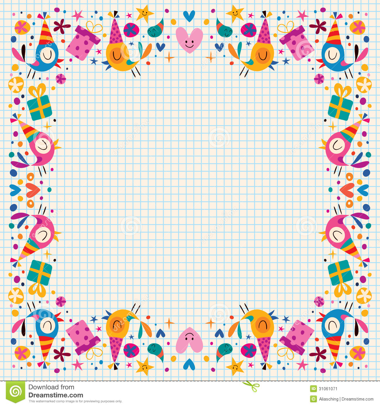 Birthday Decorative Border Stock Image   Image  31061071