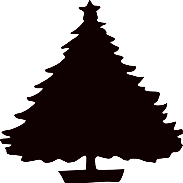 Black Christmas Tree Silhouette Clip Art At Clker Com   Vector Clip