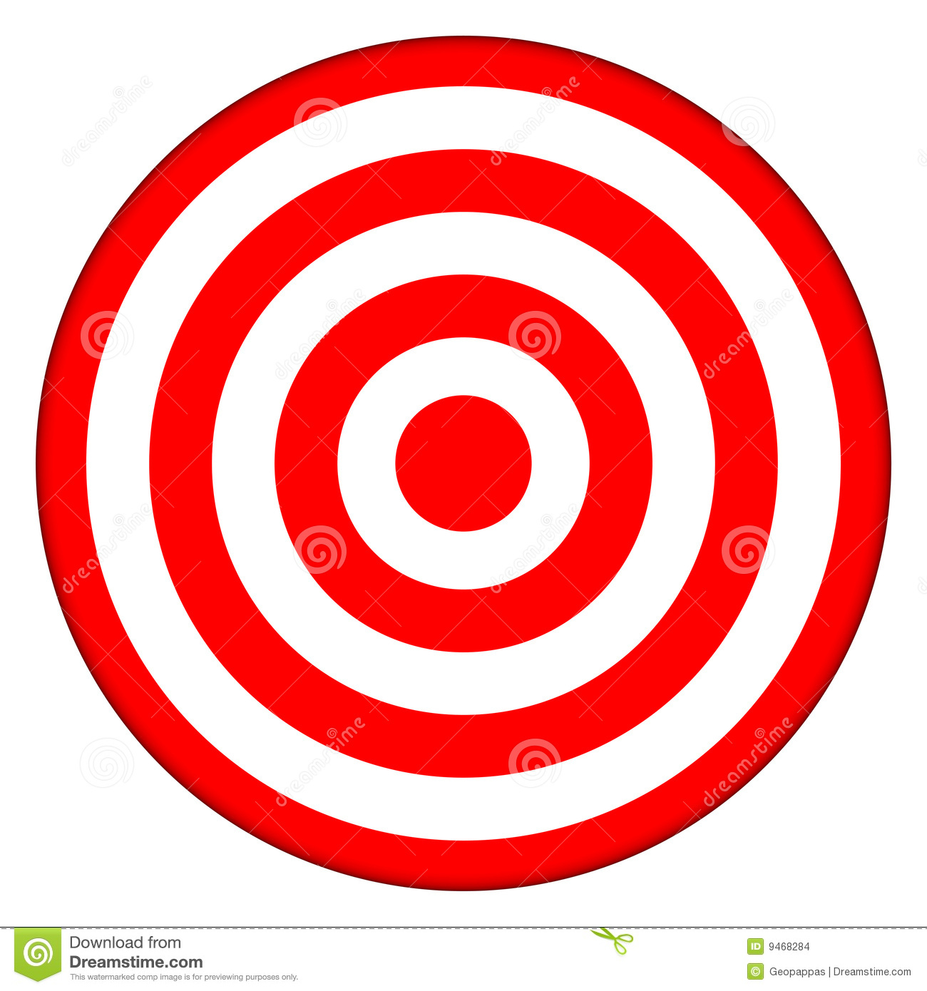 Bullseye Archery Target Isolated On White Clipart