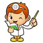 Cartoon Little Doctor Reading A Book And Giving A Thumbs Up By Boians