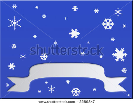 Clipart Background  Blue Gradient With White Snowflakes And White
