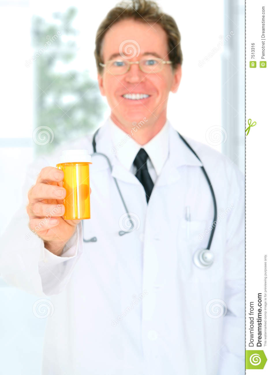 Closeup Senior Doctor Giving Medicine Royalty Free Stock Image   Image