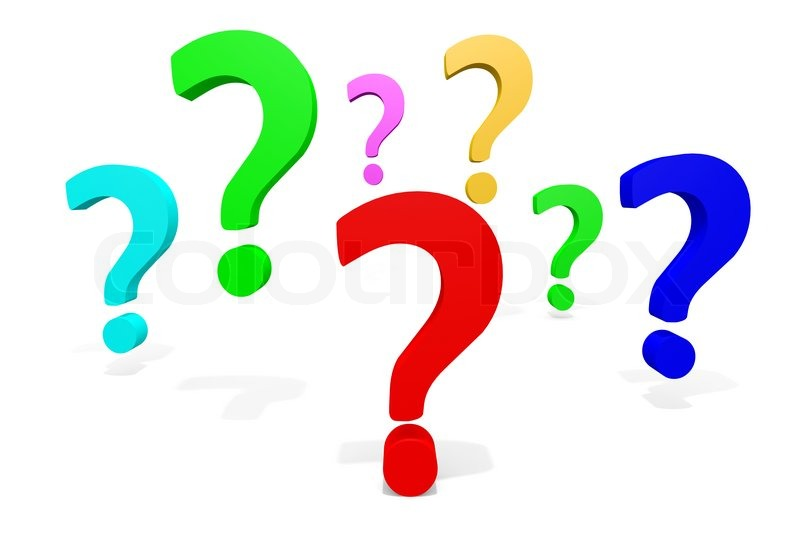 Colorful Question Marks   Stock Photo   Colourbox