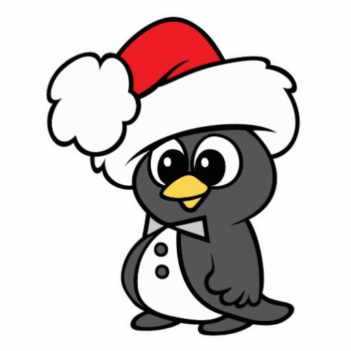 cute christmas tuxedo penguin cut out zazzle