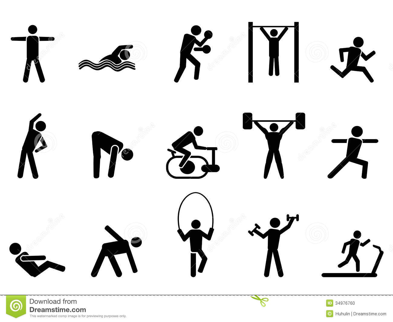 Fitness Clipart Black And White Black Fitness