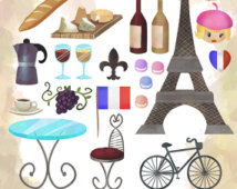 French Clipart   French Items Download   Instant Download   Faux