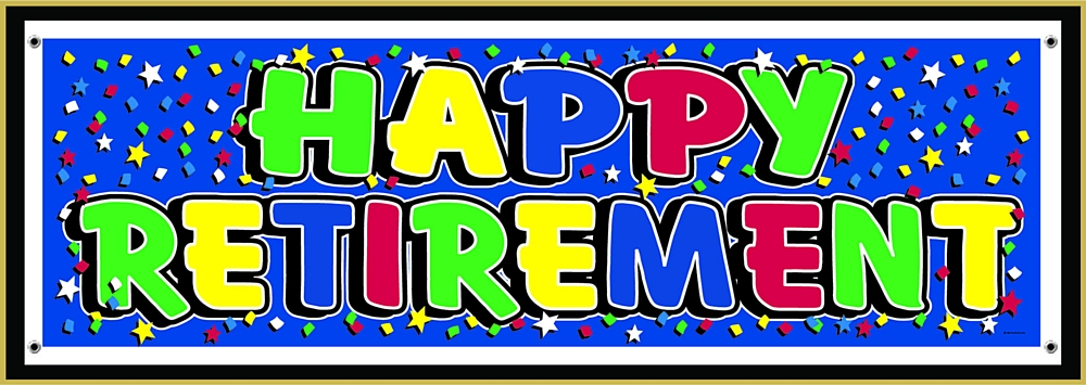 Happy Retirement Pvc Banner 1 6m 63 Code Dnphr Giant Happy Retirement