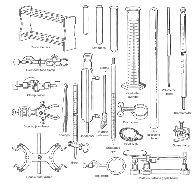 Printables Lab Equipment chemistry lab equipment clipart kid and usage