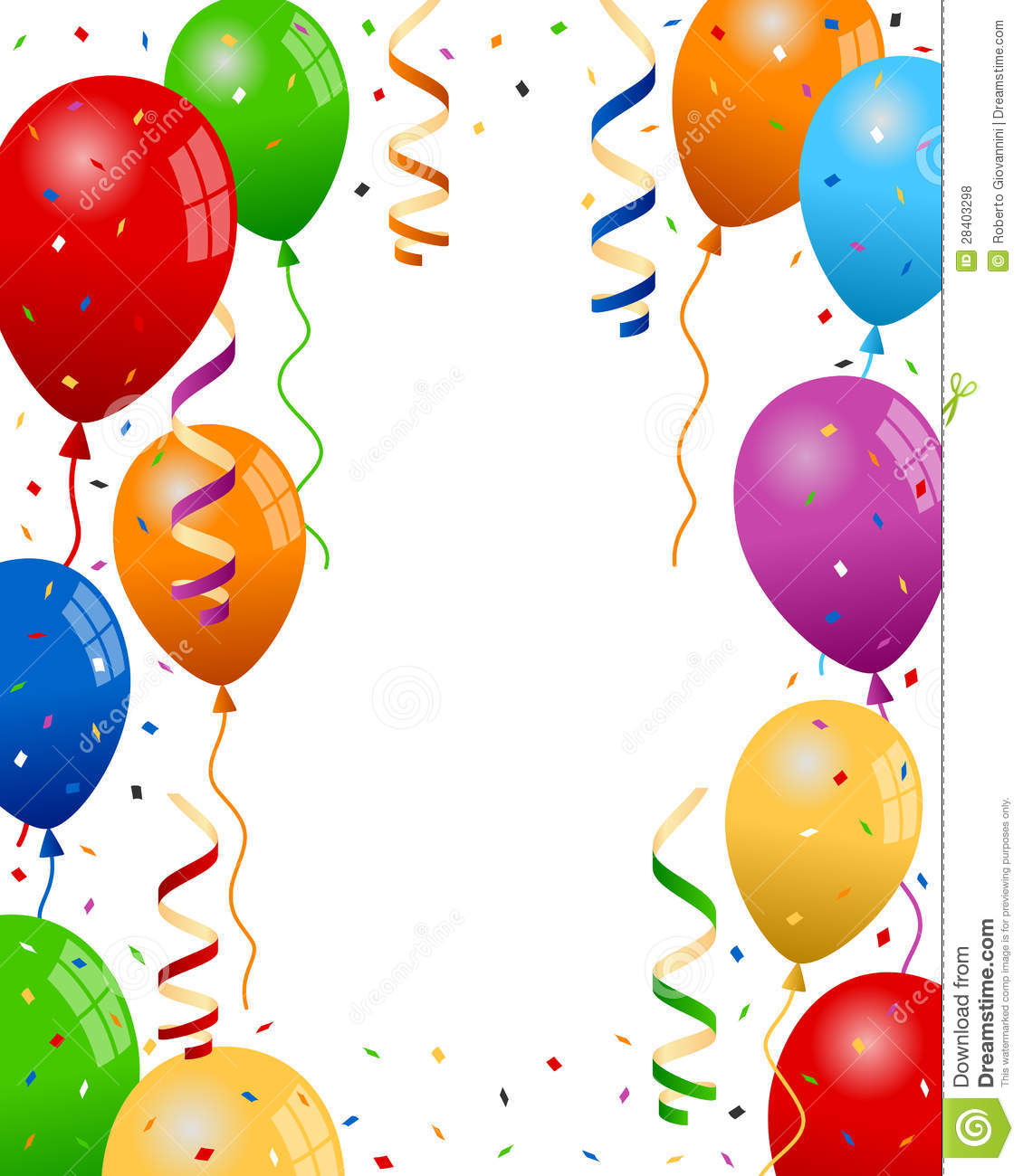 Party Balloons And Confetti Party Balloons Background 28403298 Jpg