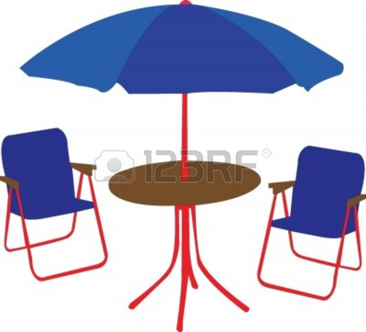 Patio Table With Umbrella Clipart   Free Clip Art Images