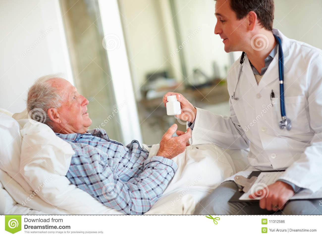 Royalty Free Stock Image  Doctor Giving Medicine To Patient  Image