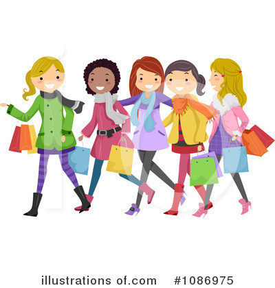 Shopping Clipart  1086975 By Bnp Design Studio   Royalty Free  Rf