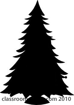 Silhouettes   Christmas Tree Silhouette 14   Classroom Clipart