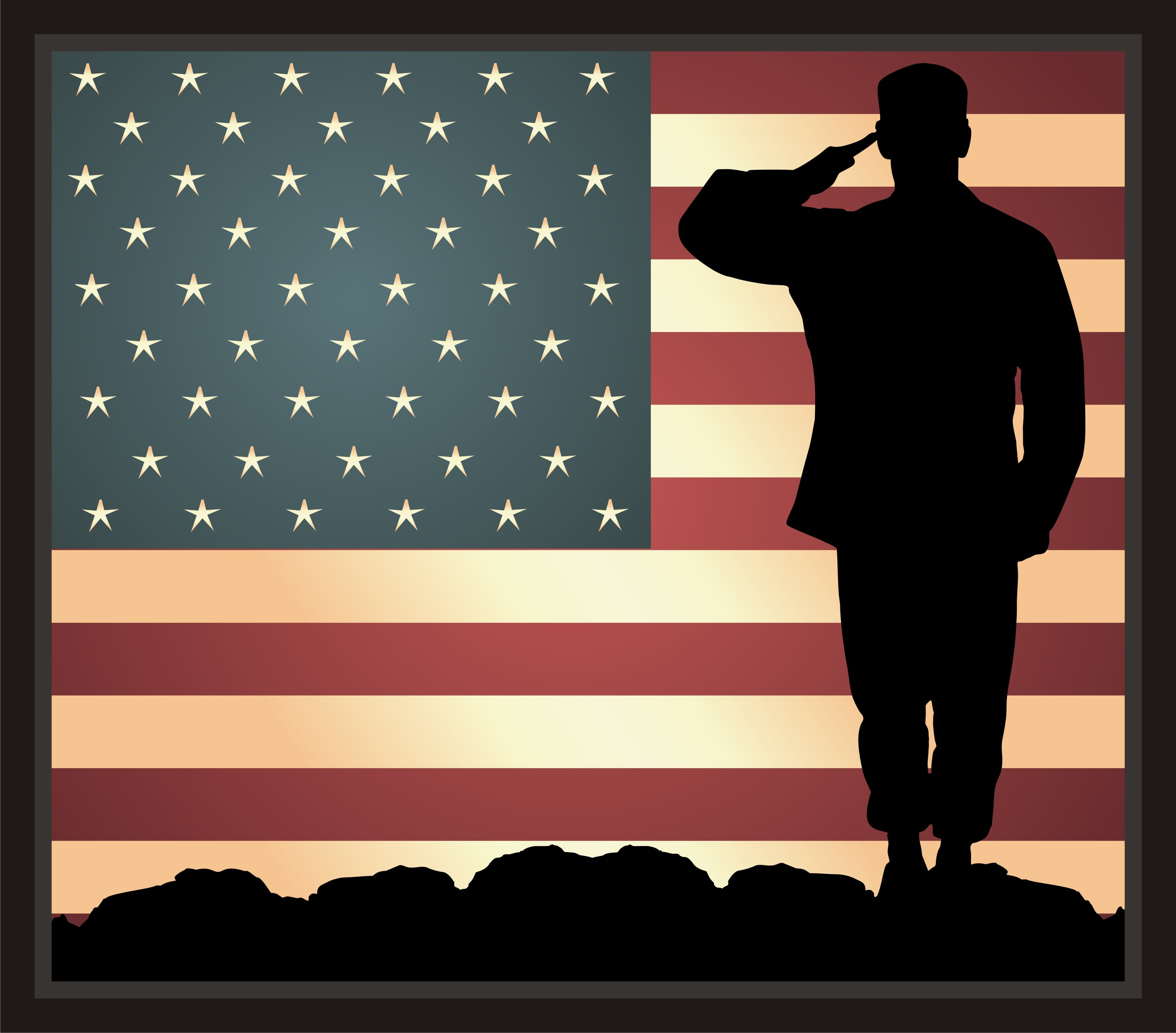 American Soldier Saluting Clipart - Clipart Kid