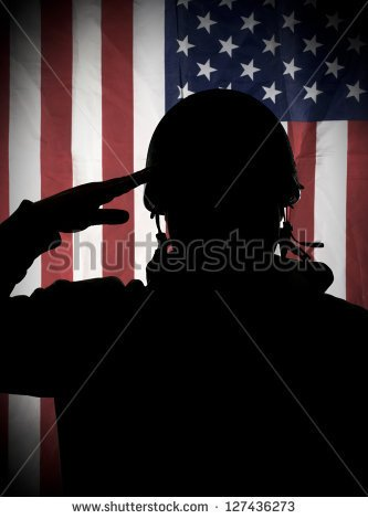Soldier Saluting Flag Clipart Stock Photo American Usa