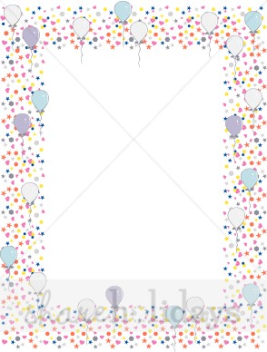 Symbol Border With Balloons   Party Clipart   Backgrounds