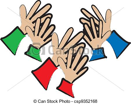 Vector   Applause From The Audience   Stock Illustration Royalty Free