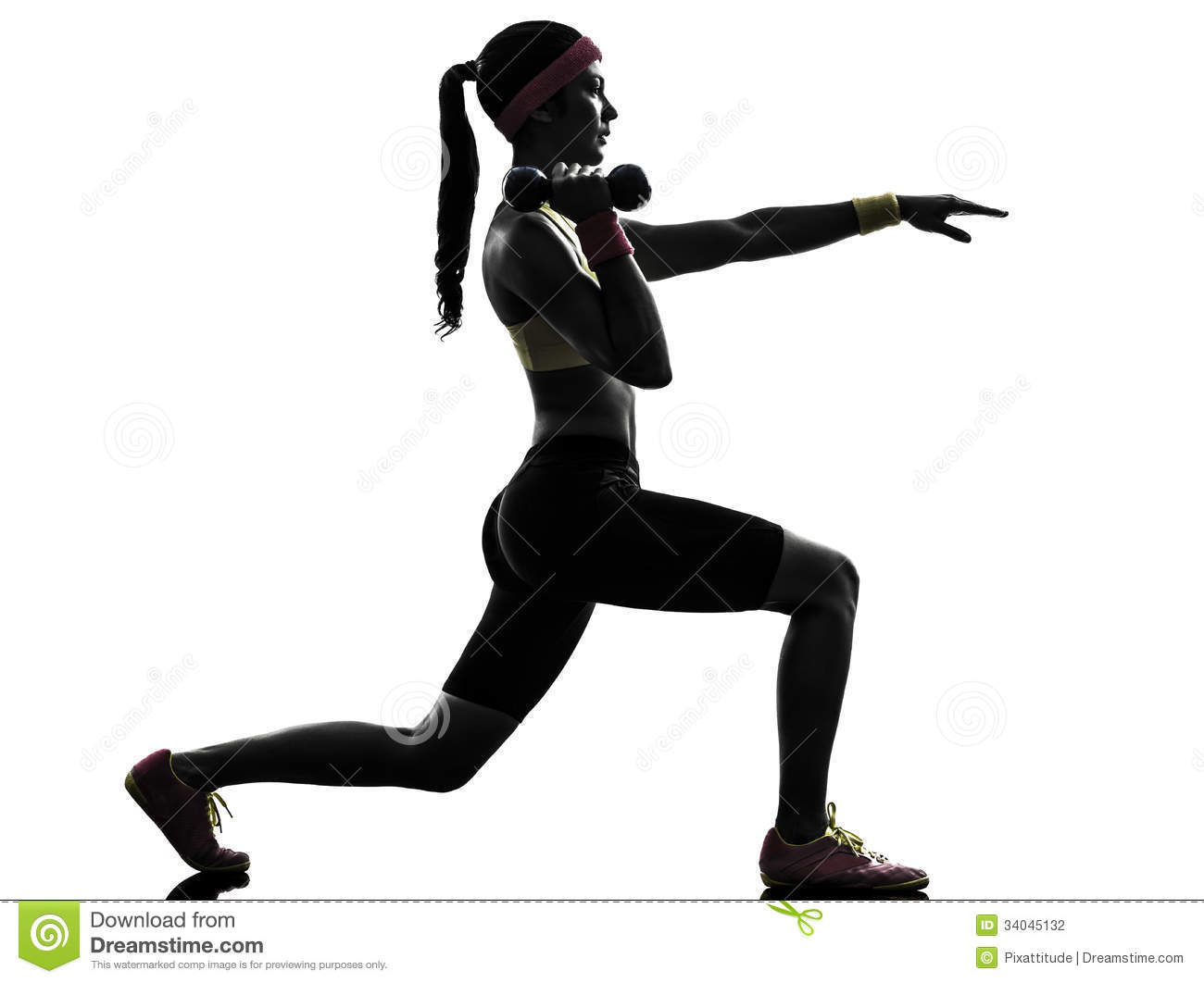 Female Fitness Silhouette Clipart - Clipart Kid