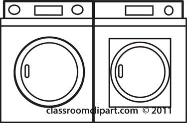 Washer Dryer Cartoon Clip Art