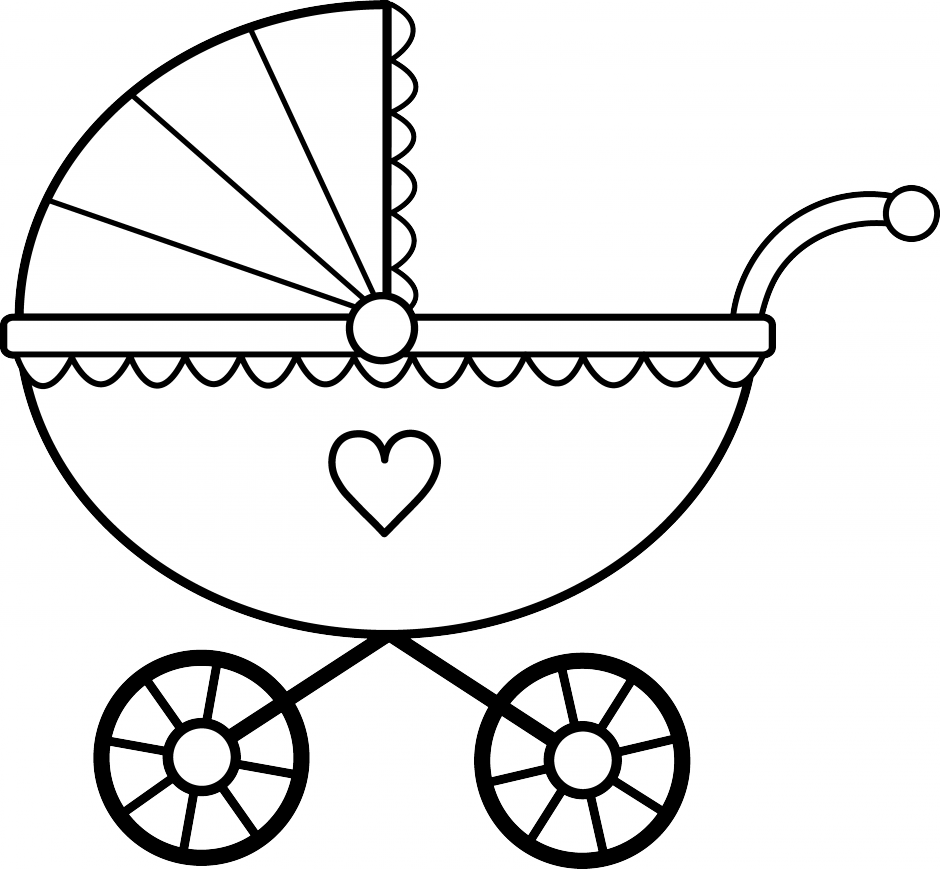 Baby Bottle Clip Art Black And White Crib Clipart Black And White