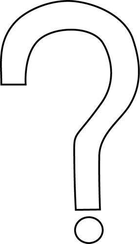 Black And White Question Mark Clipart Question Mark Black White Png