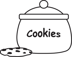 Cookie Jar Clipart Black And White   Clipart Panda   Free Clipart