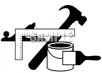 Free Clipart Image Black And White Icon For Home Improvement Tools