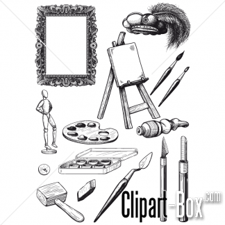 Related Artist Tools Set Cliparts