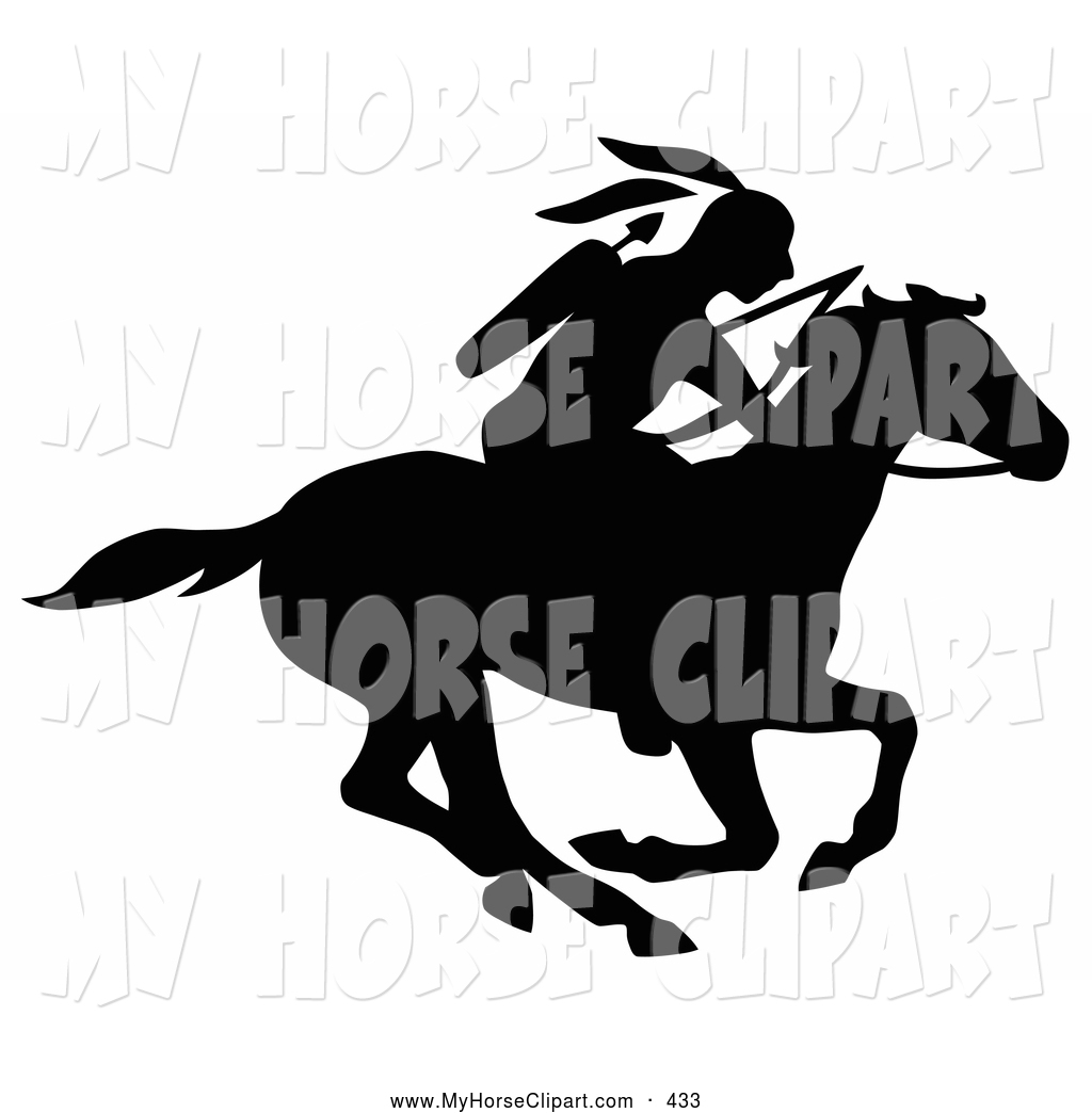 Royalty Free Black And White Stock Horse Clipart Illustrations