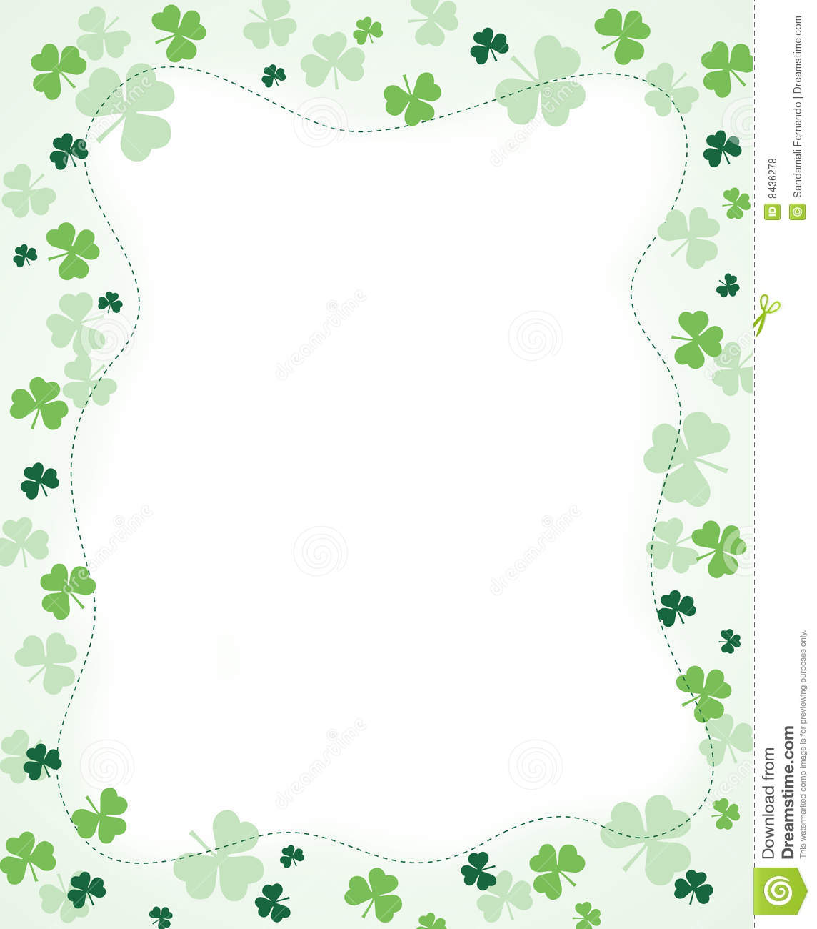 Border of Shamrocks Clip Art