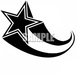 Shooting Star Black And White Clipart - Clipart Kid