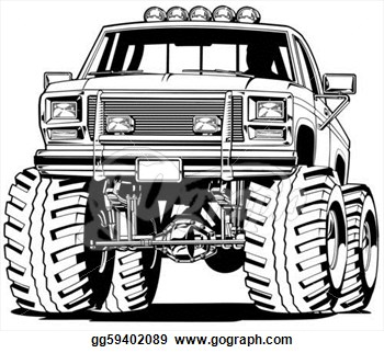 Stock Illustration   4x4 Truck Front View   Clipart Illustrations