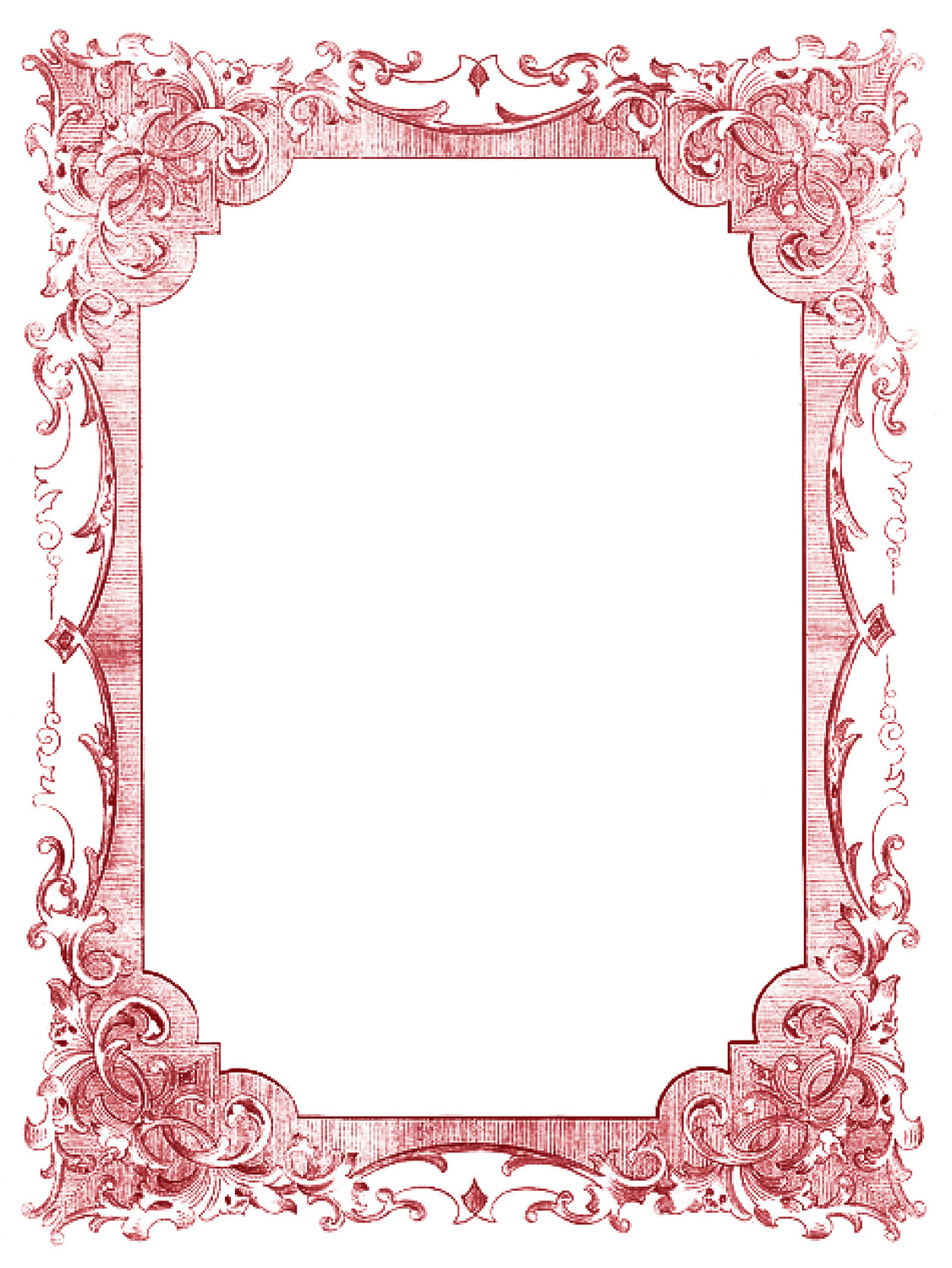 Vintage Clip Art   Romantic Frames   Christmas Colors   The Graphics