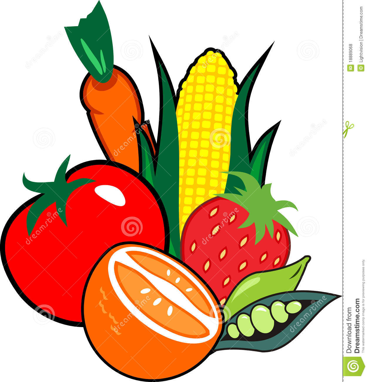 Clip Art Fruits And Vegetables Clipart fruits and veggies clipart kid vegetables border panda free images