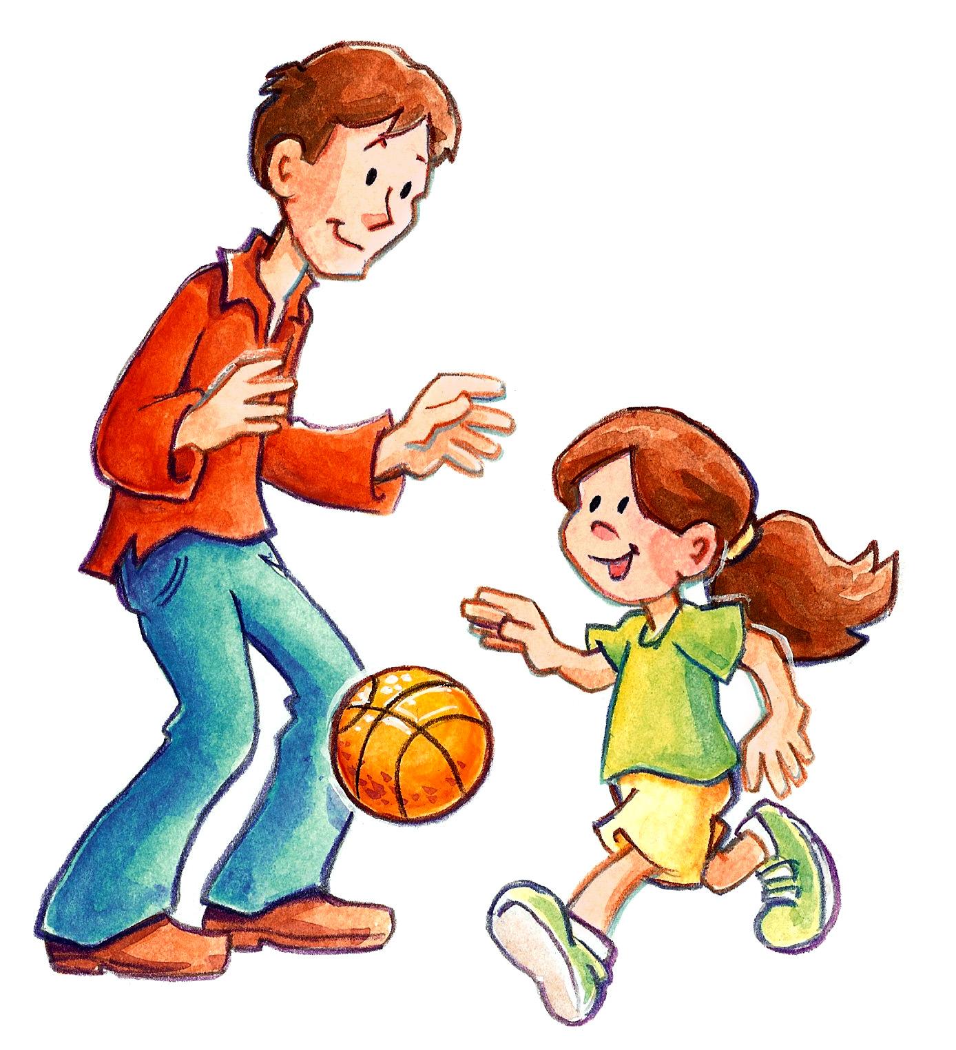 Art Sam Ples  Father Daughter Basketball
